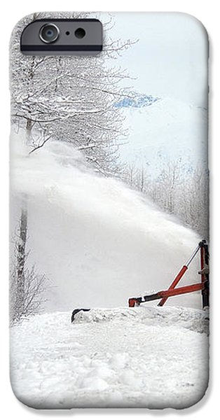 Snow Plow iPhone Case by Mark Newman