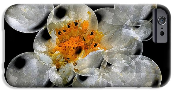 Asymmetrical iPhone Cases - Snow Puff Abstract iPhone Case by J McCombie
