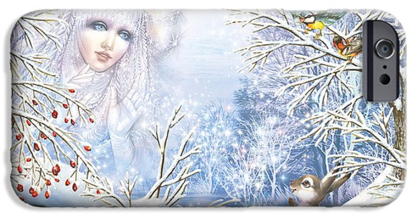 Queen Digital iPhone Cases - Snow Queen iPhone Case by Zorina Baldescu