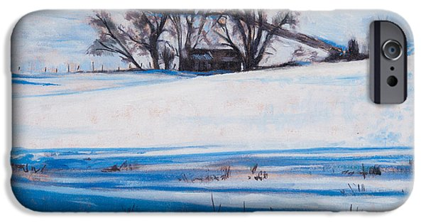 Winter Wonderland iPhone Cases - Snow Shadows iPhone Case by Tilly Willis