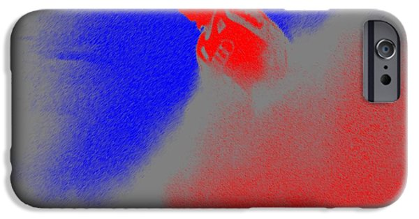 Abstract Digital Pastels iPhone Cases - Snow Spray 3 iPhone Case by George Pedro