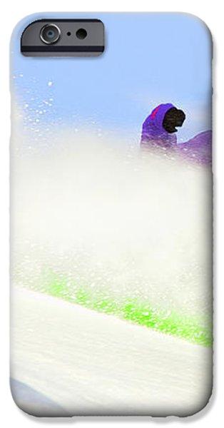 SNOW SPRAY iPhone Case by Theresa Tahara