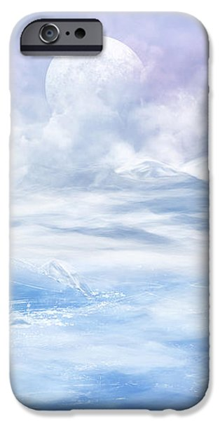 Snow valley iPhone Case by Nika Lerman