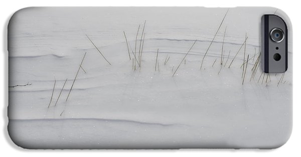Drifting Snow Photographs iPhone Cases - Snow Whispers iPhone Case by Susan Capuano