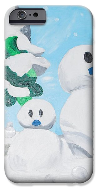 Recently Sold -  - Tree Art Print iPhone Cases - Snow iPhone Case by Yueping Song