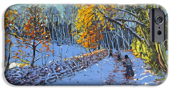 Snowball iPhone Cases - Snowballing iPhone Case by Andrew Macara