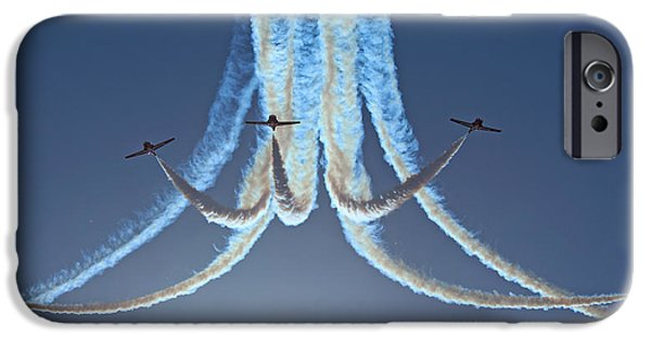Snowbird iPhone Cases - Snowbirds in a Dive iPhone Case by Randy Hall