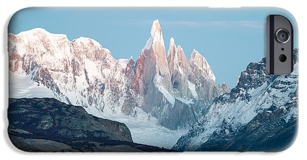 Mountain iPhone Cases - Snowcapped Mountain Range, Mt Fitzroy iPhone Case by Panoramic Images