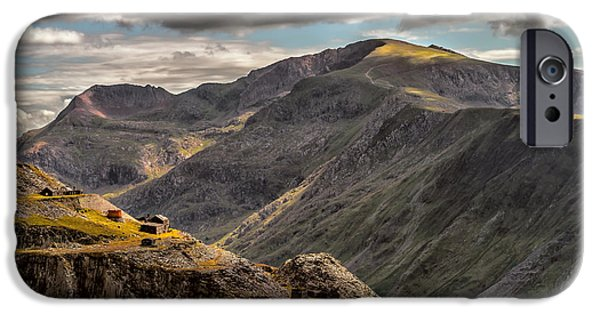 Ruin iPhone Cases - Snowdonia iPhone Case by Adrian Evans