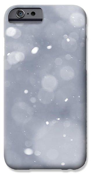 Snowfall background iPhone Case by Elena Elisseeva