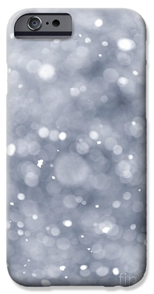 Storm Photographs iPhone Cases - Snowfall  iPhone Case by Elena Elisseeva