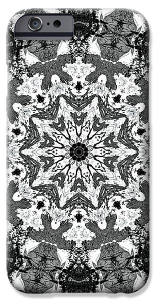 Snowy Mixed Media iPhone Cases - Snowflake iPhone Case by Dan Sproul