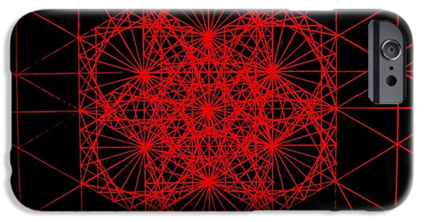 Ems iPhone Cases - Snowflake shape comes from frequency and mass iPhone Case by Jason Padgett