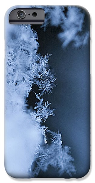 Snow iPhone Cases - Snowflakes 3 iPhone Case by Jeff Klingler