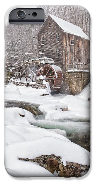 Grist Mill iPhone Cases - Snowglade Creek Grist Mill iPhone Case by Emmanuel Panagiotakis