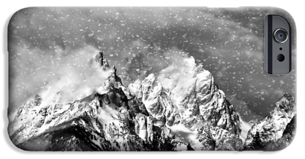 Recently Sold -  - River iPhone Cases - Snowing In The Tetons iPhone Case by Dan Sproul