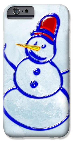Little iPhone Cases - Snowman iPhone Case by Anastasiya Malakhova