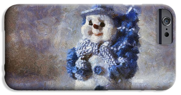 Recently Sold -  - Snowy iPhone Cases - Snowman Photo Art 02 iPhone Case by Thomas Woolworth