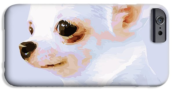 Chiwawa iPhone Cases - Snowman - White Chihuahua iPhone Case by Rebecca Korpita
