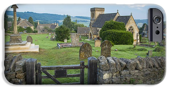 Headstones iPhone Cases - Snowshill Morning iPhone Case by Brian Jannsen