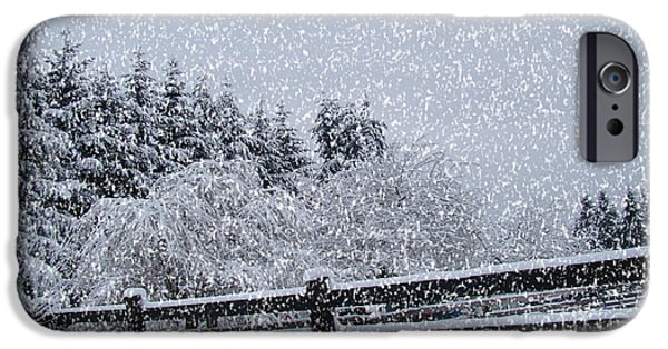 Hallmark iPhone Cases - Snowstorm Coming iPhone Case by Beverly Guilliams