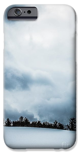 Snow iPhone Cases - Snowstorm iPhone Case by Edward Fielding