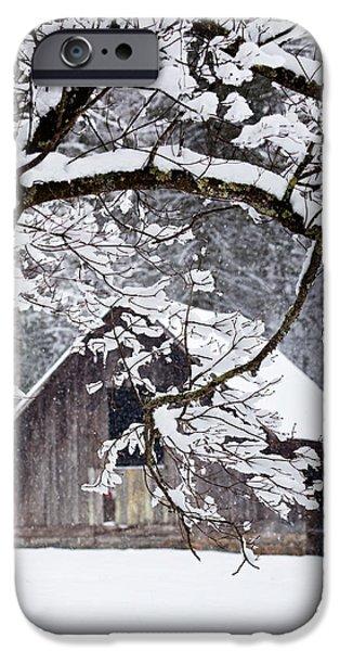 Snowy Barn 2 iPhone Case by Rob Travis