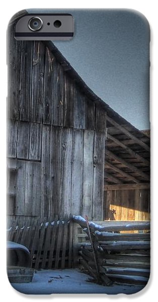 Snowy Barn iPhone Case by Jane Linders