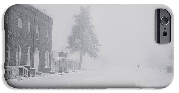 Snow iPhone Cases - Snowy Ghost Town iPhone Case by Darren  White