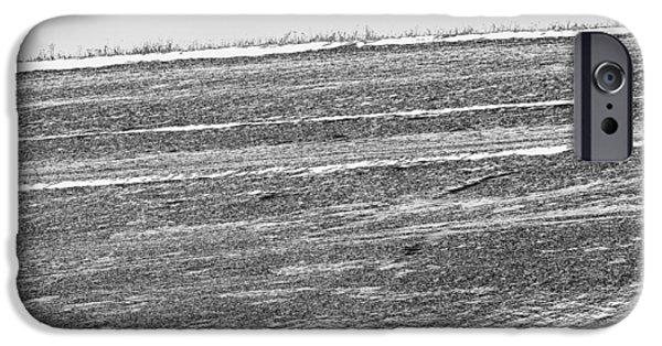 Winter Scene iPhone Cases - Snowy hill iPhone Case by Attila Simon