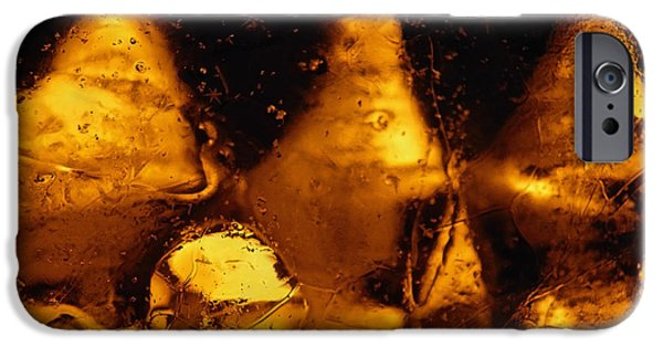 Snowy Night Digital iPhone Cases - Snowy Ice Bottles 2 iPhone Case by Sami Tiainen