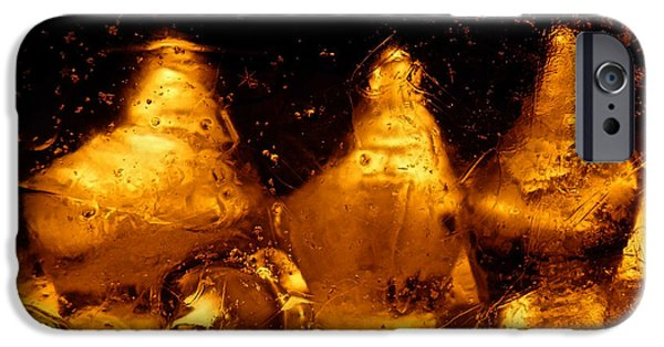 Snowy Night Digital iPhone Cases - Snowy Ice Bottles - Christmas Greetings iPhone Case by Sami Tiainen