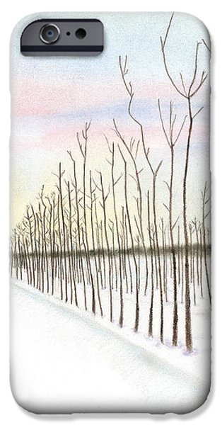 Snowy Lane iPhone Case by Arlene Crafton
