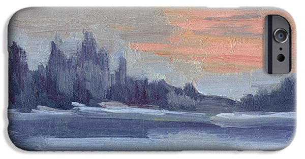 Winter Mornings iPhone Cases - Snowy Morning at Martha Lake iPhone Case by Diane McClary