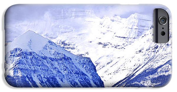 Skiing iPhone Cases - Snowy mountains iPhone Case by Elena Elisseeva