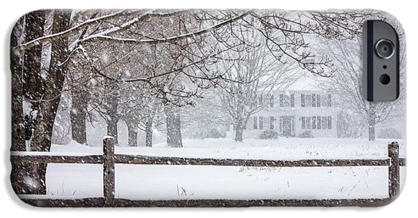 1800 iPhone Cases - Snowy New England iPhone Case by Benjamin Williamson
