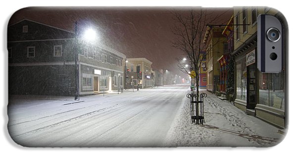 Snowy Night iPhone Cases - Snowy Night iPhone Case by Alan Chandler