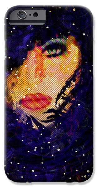 Snowy Night Mixed Media iPhone Cases - Snowy Night iPhone Case by Natalie Holland