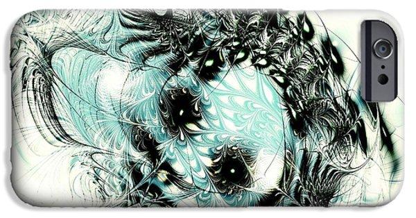 Snowy Mixed Media iPhone Cases - Snowy Owl iPhone Case by Anastasiya Malakhova