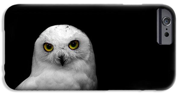 Snowy Photographs iPhone Cases - Snowy Owl iPhone Case by Mark Rogan