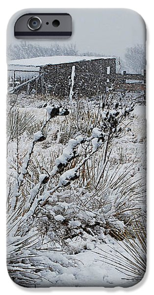 Snowy Pasture iPhone Case by Melany Sarafis