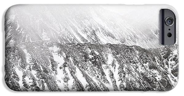 Unique View iPhone Cases - Snowy Ridge Abstract iPhone Case by Aaron Spong
