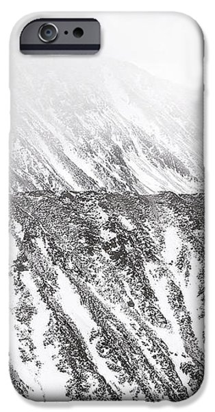Snowy Ridge Abstract iPhone Case by Aaron Spong