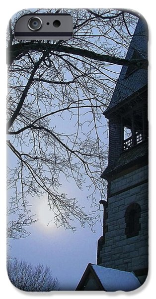 Concord. Winter iPhone Cases - Snowy Sunday iPhone Case by Jeff Heimlich