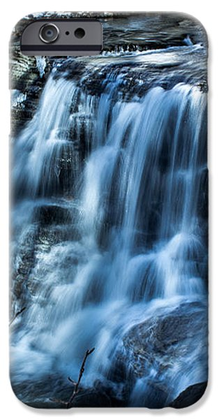 Snowy Waterfall iPhone Case by Jahred Allen
