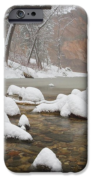 Snowy West Fork iPhone Case by Peter Coskun
