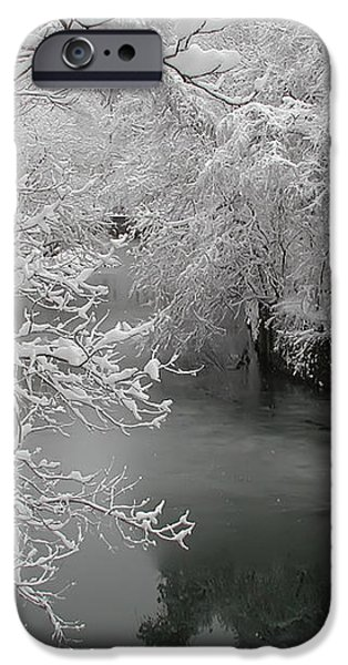 Snowy Wissahickon Creek iPhone Case by Bill Cannon