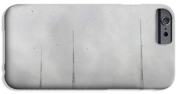 Technology iPhone Cases - Snowy WMAL Tower Field iPhone Case by Francis Sullivan