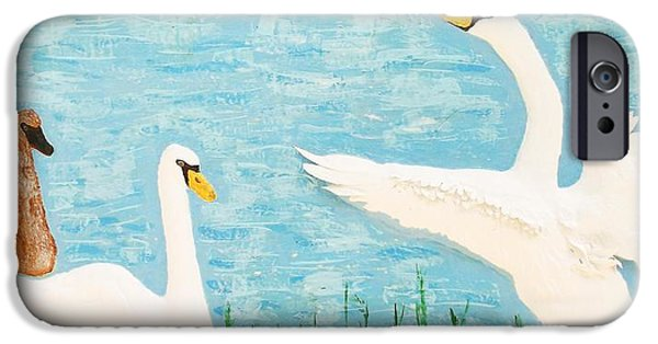 Birds Reliefs iPhone Cases - So Long Boys iPhone Case by Alberto H-B