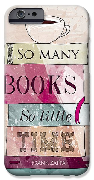 Books iPhone Cases - So many books iPhone Case by Randoms Print